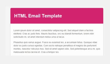 Email template with base color of pink