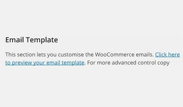 Email Template section