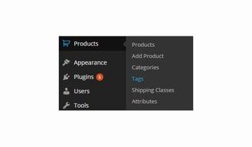 Product Tags menu