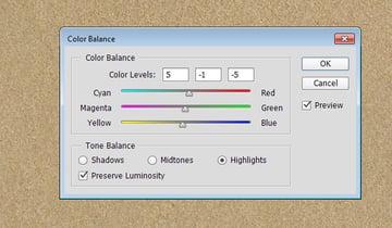 Adjusting the Color Balance