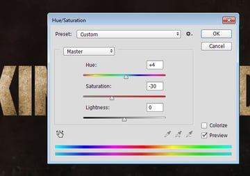 Text Grunge Textures HueSaturation