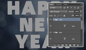 Grouping the Text Layers