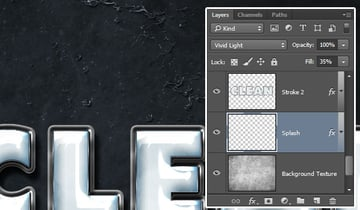Splash Layers Blend Mode and Fill Value