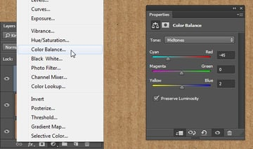 Color Balance Values