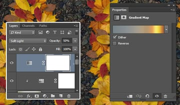 Add a Gradient Map Adjustment Layer