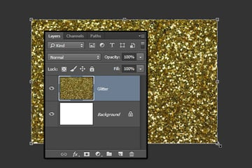 Paste and Resize the Glitter Texture