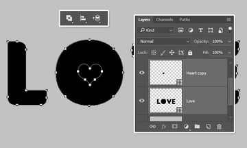 Exclude Overlapping Shapes Option