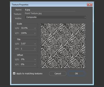 Edit UV Properties Tile Values