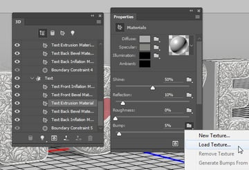 Add the Extrusion Bump Texture
