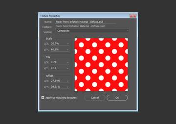 Modify the Scale or Tile Values
