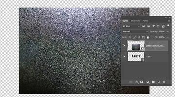 Add the Glitter Texture
