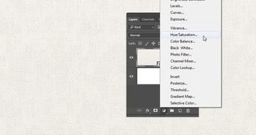 Add a HueSaturation Layer