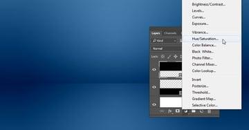 Add a HueSaturation Adjustment Layer
