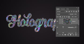 Add the Holographic Texture