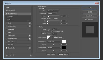 Bevel and Emboss layer style