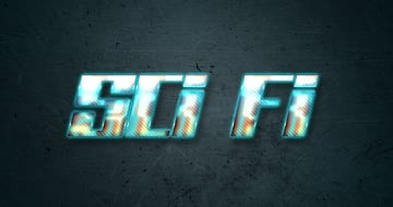 Sci Fi Layer Style Text Effect