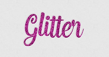 Glitter Layer Style Text Effect