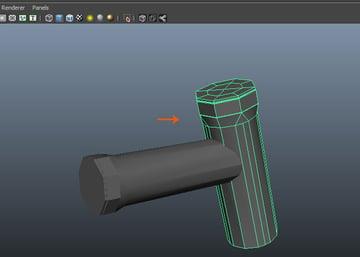 Duplicate the grip model