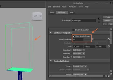 Attribute Editor  Fluid Shape  Container Properties