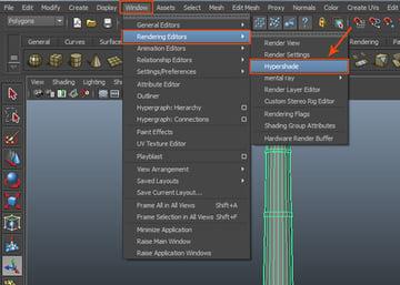 Window  Rendering Editors  Hypershade
