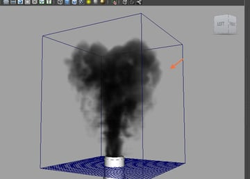 Simulate the smoke