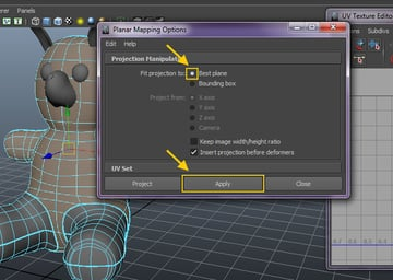 Planar Mapping Options