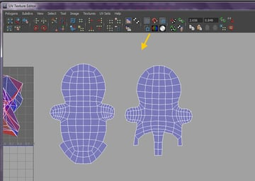 UV shapes are unfolded and relaxed