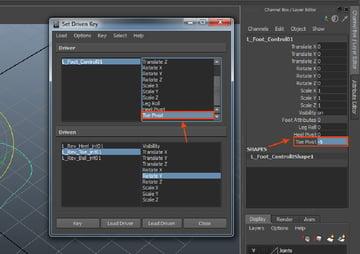 L_Foot_Control01 followed by Toe Pivot