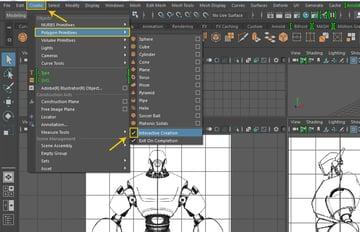 Create  Polygon Primitives  Interactive Creation