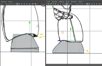 Modify the shape of the cylinder