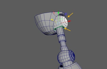 With the ball meshes selected