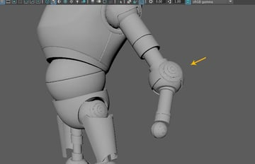 The elbow and wrist mechanism shapes are completed