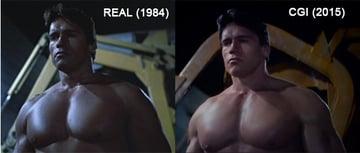 Real vs CGI Arnold