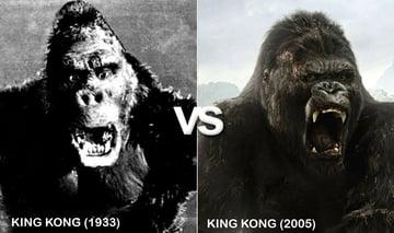 1933s King Kong vs 2005s King Kong