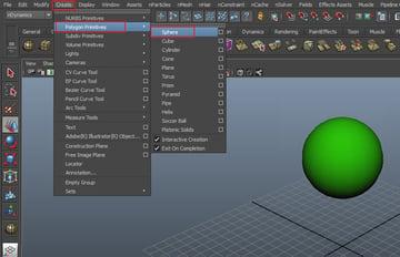 Create Polygon Primitives Sphere