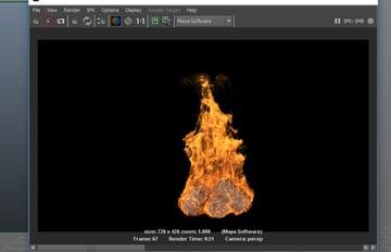 Fire simulation animation