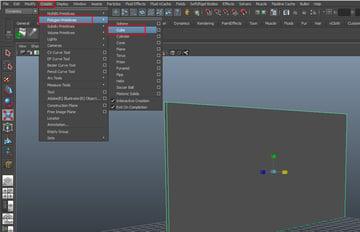 Create  Polygon Primitives  Cube