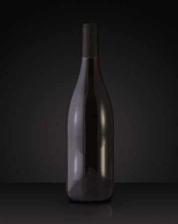 Red wine bottle mockup