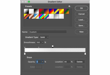 Set Color and Opacity Stops