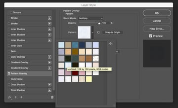 Layer Style Pattern Overlay