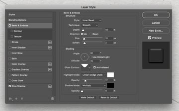 Layers Style Bevel Emboss