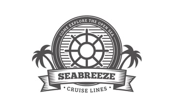 Seabreeze badge from 30 Vintage Style Badges and Logos
