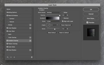 Gradient Overlay style panel