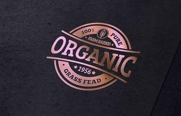 Rose Gold Foil Logo Mockup