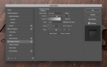 Layer style dialog
