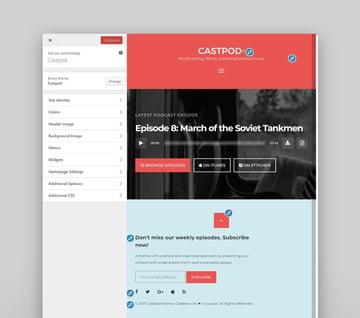 Castpod - Profesional tema de WordPress para podcast de audio