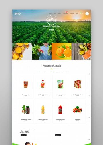 Zyra - Tema de WooCommerce limpio y minimalista