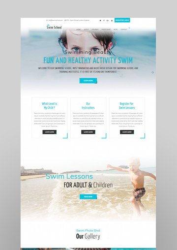 Swim School WordPress