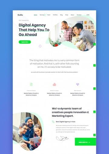Gullu - Agency  Multipurpose WordPress Theme
