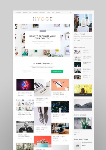 Hygge An Independent Editorial Magazine Blog Theme with Shop